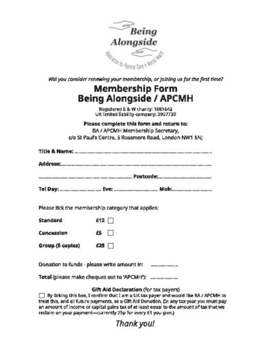 BA/APCMH membership form